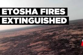 Etosha fires extinguished