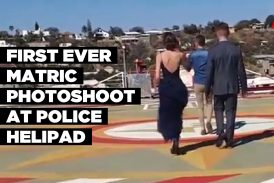 First ever Matric photoshoot at police helipad