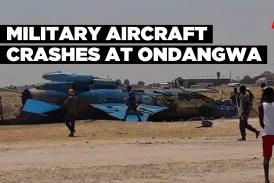 Military aircraft crashes at Ondangwa