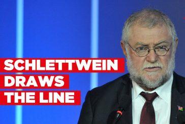 Schlettwein draws the line