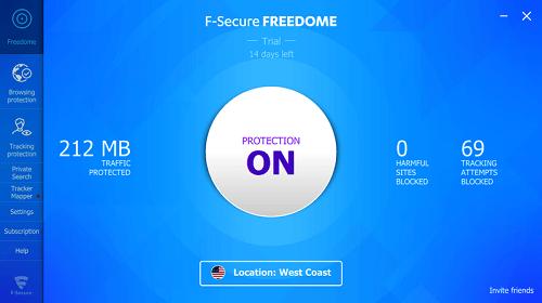 Télécharger F Secure Freedome VPN crack