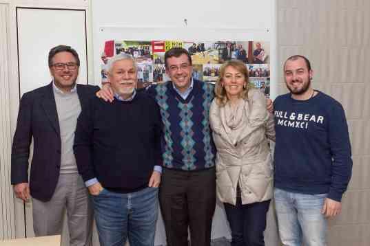 Da sx: Angelo Morlando, Tommaso Morlando, Massimiliano Manfredi, Annamaria La Penna e Carmine Colurcio