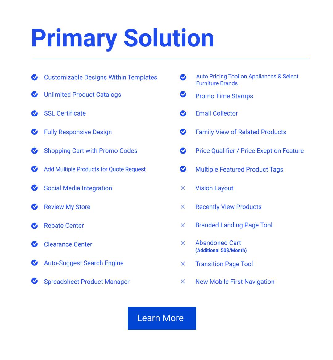 Primary Website Solution