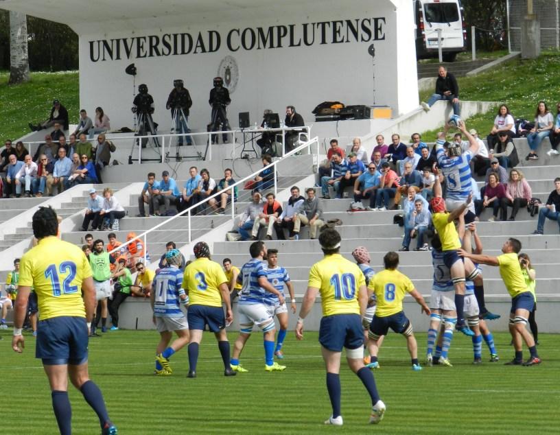 Partido de rugby entre el Complutense Cisneros y el Barcelona