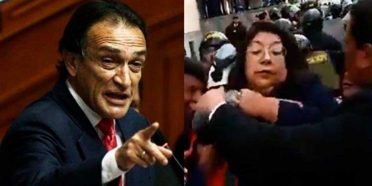 Congresista del Frente Amplio denunció que fue masacrada por policías y Becerril se burla