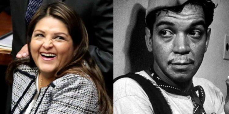Karina Beteta dio un confuso discurso a escolares y la compararon con Cantinflas
