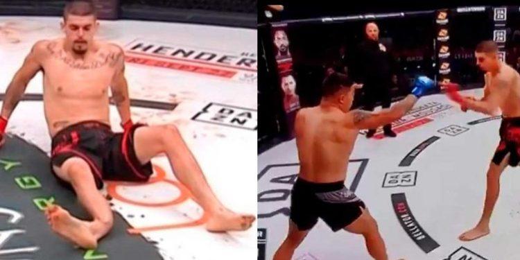 Peleador de MMA se rompe la pierna derecha al patear a su rival