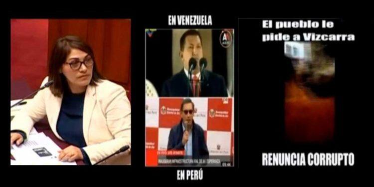 Milagros Salazar usó 'memes' en su exposición ante comisión internacional