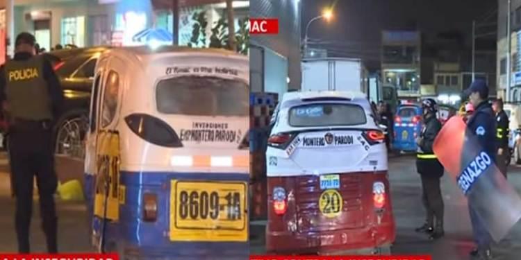 Rímac: Intervienen a mototaxistas venezolanos indocumentados que roban en el distrito
