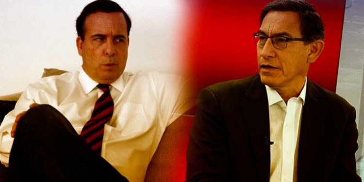 Martín Vizcarra y Aldo Mariátegui