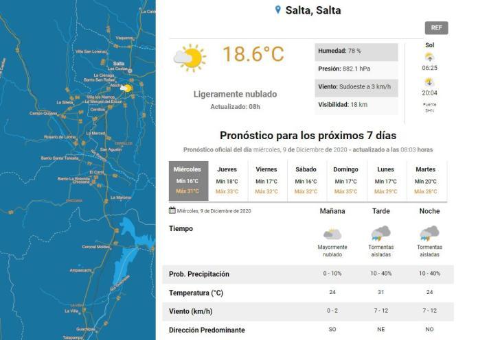 clima miercoles 9