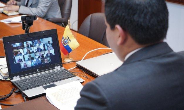 Histórica sesión virtual de presidentes de Parlamentos de la Región tuvo como anfitrión a Ecuador