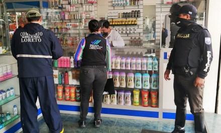Arcsa realiza vigilancia sanitaria en establecimientos de Loreto