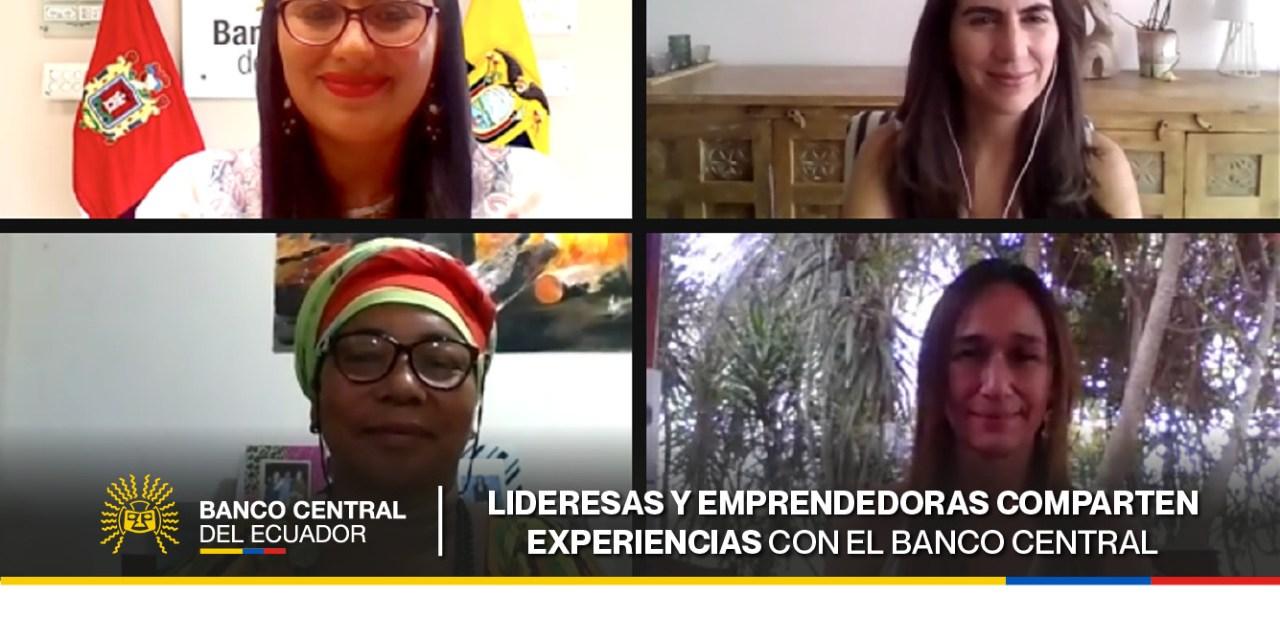 Lideresas y emprendedoras compartieron sus experiencias con el Banco Central