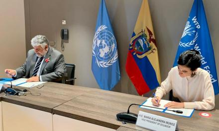 Carta de compromiso de cooperación en la lucha contra el hambre firman la Vicepresidenta y Programa Mundial de Alimentos