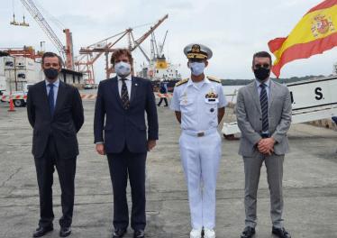 """El Buque español """"Juan Sebastián Elcano"""" atracó en el Puerto de Guayaquil"""