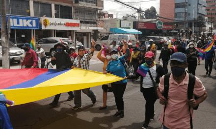 Nueva marcha al CNE en apoyo a Yaku Pérez