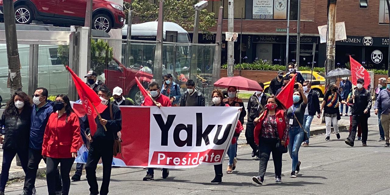 Indígenas llegan a Quito para apoyar a Yaku