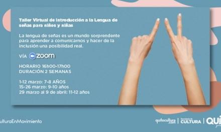Taller virtual de introducción a la lengua de señas para niños