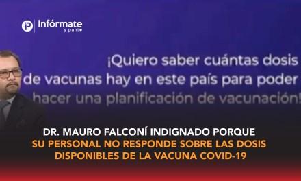 Audio del Ministro de Salud, Dr. Mauro Falconí indignado porque su personal no responde sobre las dosis disponibles de la vacuna Covid-19