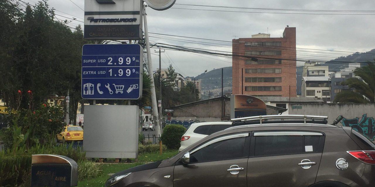 Combustibles con nuevos precios en Ecuador