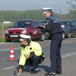 politisti la locul accidentului