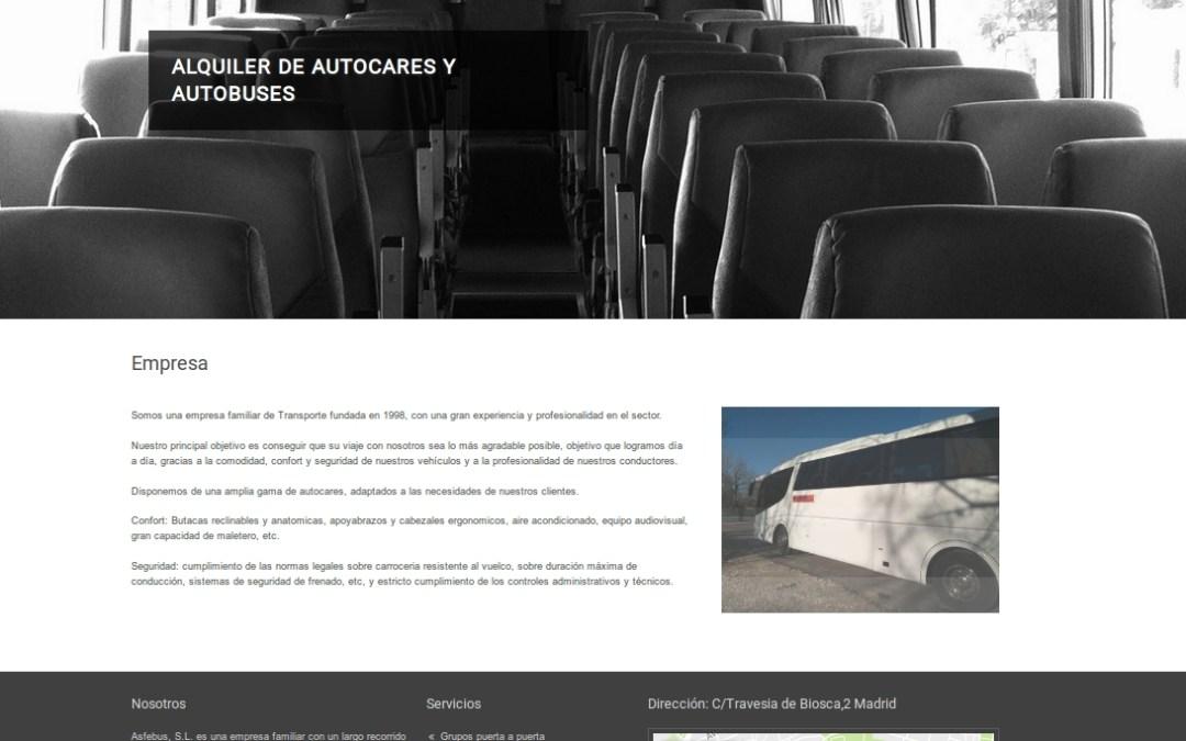 Proyecto Asfebus, S.L. con GetSimple