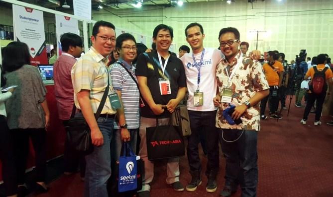 Bersama Nayoko Kho. Co-Founder & CEO of Seekmi.com (2 dari kanan)