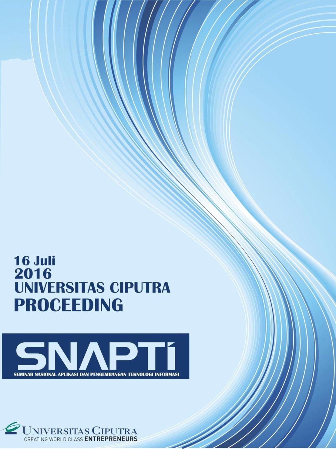 Cover Depan SNAPTI 2016