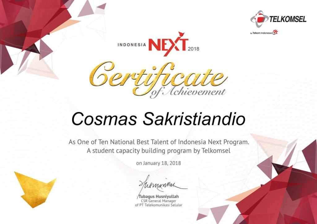 Indonesia Next 2017 Winner - Cosmas Sakristiandio