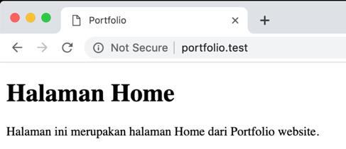 Tampilan halaman dengan App Name