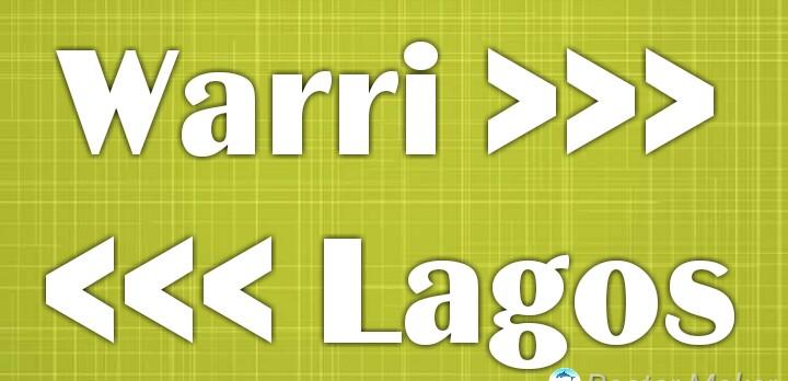 Warri to Lagos transport cost