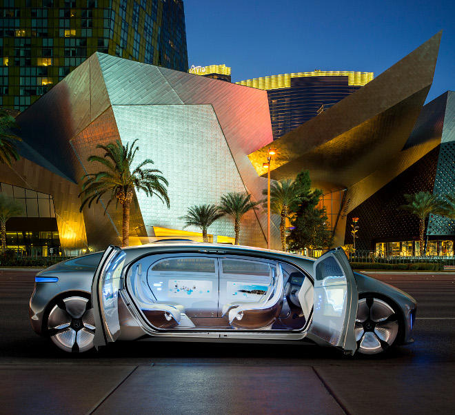 Mercedes driverless car photo