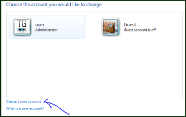 create new user account on your windows computer