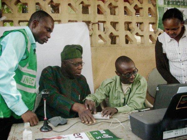 obasanjo and mark voters registration