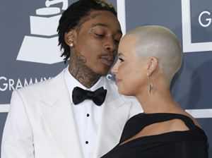 Whiz Khalifa and heavily pregnant wife Amber Rose