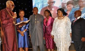 Jonathan Family being admonished by CAN President, Pator Ayo Oritsejafor