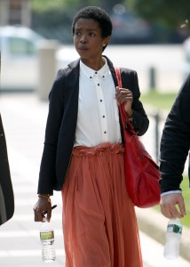 Lauryn Hill arrives at court to face tax evasion charges in Newark, NJ