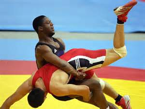 Wrestlers At An Olympic Game,