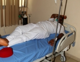 HOUSE LEADER, CHIDI LLOYD RECEIVING TREATMENT AT RIVERS GOVT HOUSE CLINIC