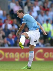 Eden Dzeko, City's First Goal Scorer.