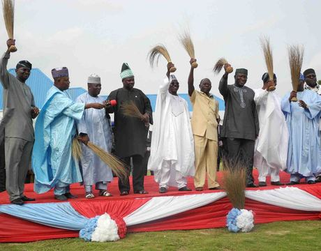 APC GOVERNORS AT THEIR INAUGURAL MEETING IN LAFIA, NASARAWA STATE IN JULY