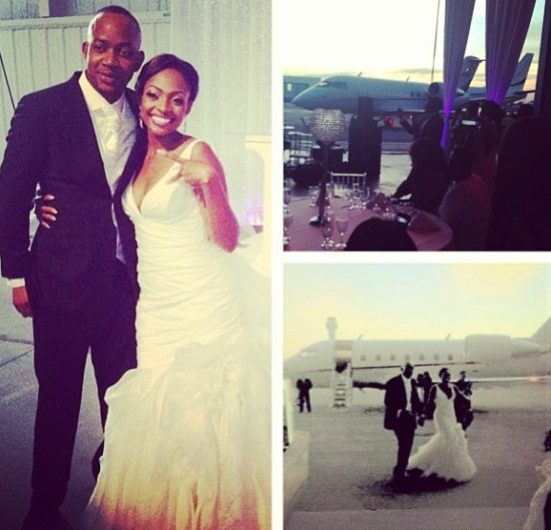 PHOTO: Davido's Sister Came to Her White Wedding in a