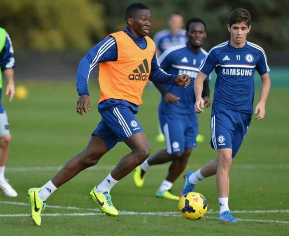 Kenneth Omeruo Pictured During Chelsea Training.