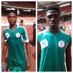 Members of the Home-Based Eagles In Training a the Abuja National Stadium.