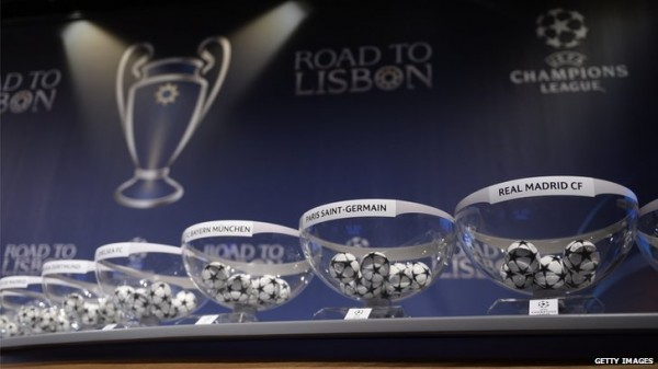 Champions League Round of 16 Draw.