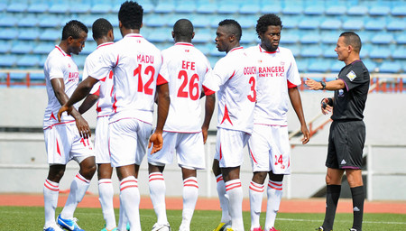 Enugu Rangers Players During a League Game.