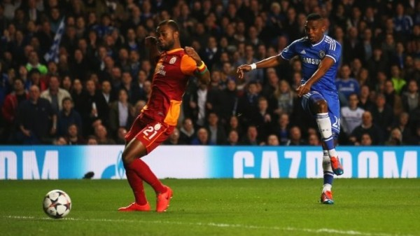 Samuel Eto'O Opens Scoring for Chelsea Against Galatasaray. Getty Image.