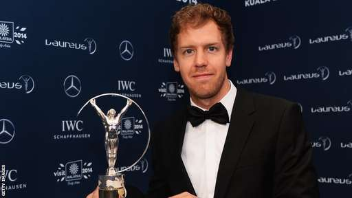 Formula One's Youngest Four-Time Champion, Sebastian Vettel, Clinches 2014 Laureus Sportsman of the Year Award. Getty Image.