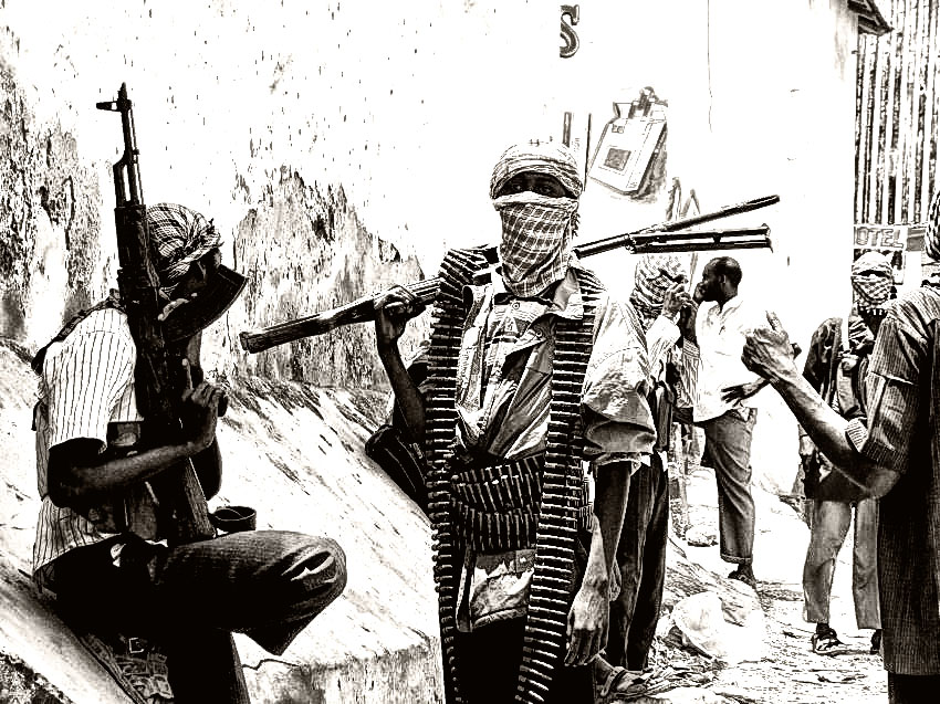 worshippers escape death as more than 100 gunmen invade